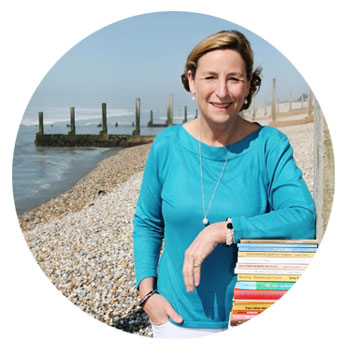 portrait of Wendy Yorke, seaside backdrop